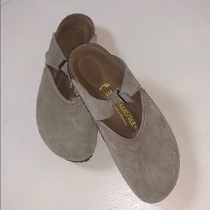New Birkenstock beige suede shoes, 39/8